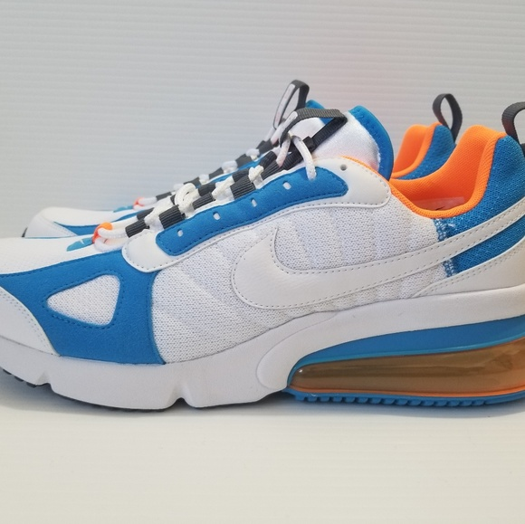 Nike Air Max 270 Futura White Blue Orange Shoes NWT